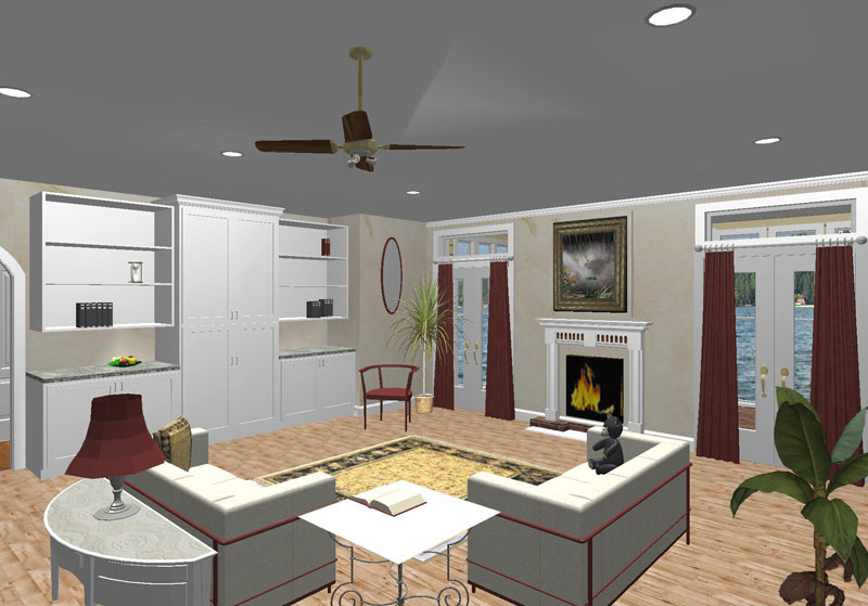 Ranch House Plan Great Room Photo 01 - 028D-0053 | House Plans and More