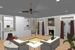 Vacation Home Plan Great Room Photo 01 - 028D-0053 | House Plans and More