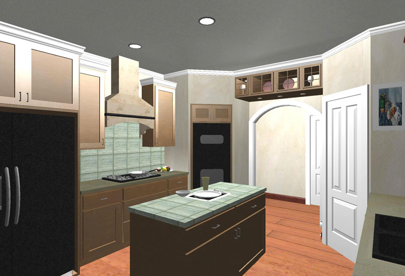 Ranch House Plan Kitchen Photo 01 - 028D-0053 | House Plans and More