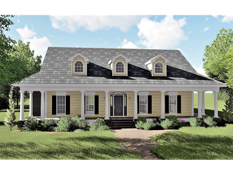 Colonial House Plan Front Photo 04 - 028D-0054 | House Plans and More