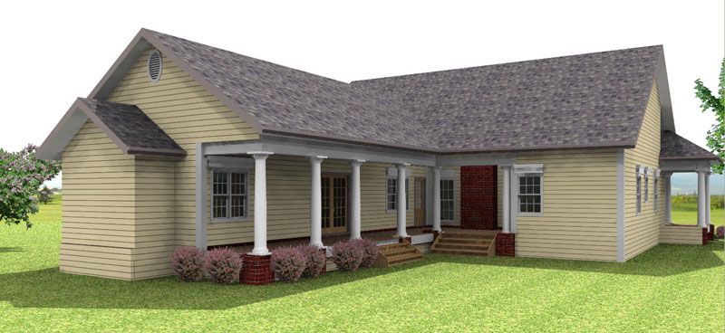 Ranch House Plan Color Image of House 028D-0054