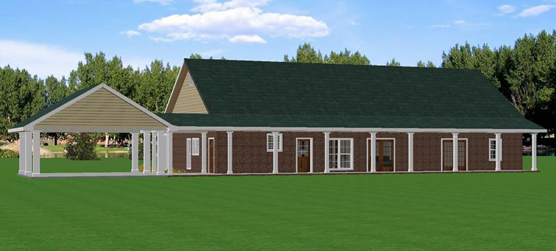 Southern House Plan Color Image of House 028D-0055