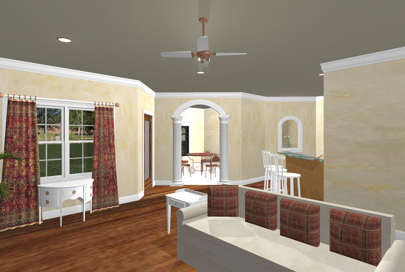 Ranch House Plan Family Room Photo 01 - 028D-0056 | House Plans and More