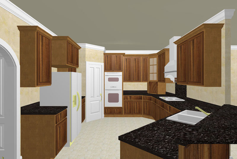 Luxury House Plan Kitchen Photo 01 - 028D-0056 | House Plans and More