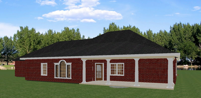Traditional House Plan Color Image of House - 028D-0056 | House Plans and More