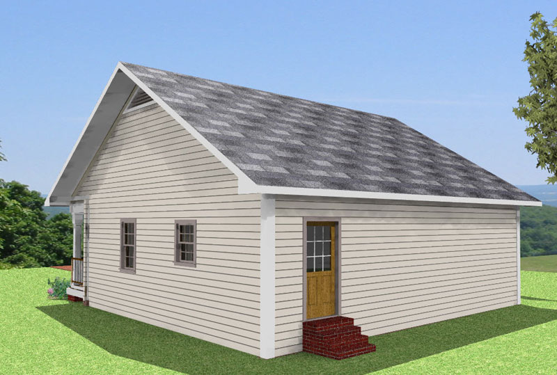 Cabin and Cottage Plan Color Image of House - 028D-0057 | House Plans and More