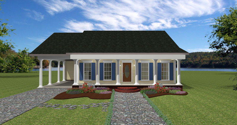 Southern House Plan Front Photo 01 - 028D-0058 | House Plans and More