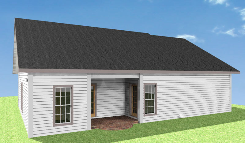 Southern House Plan Color Image of House 028D-0058