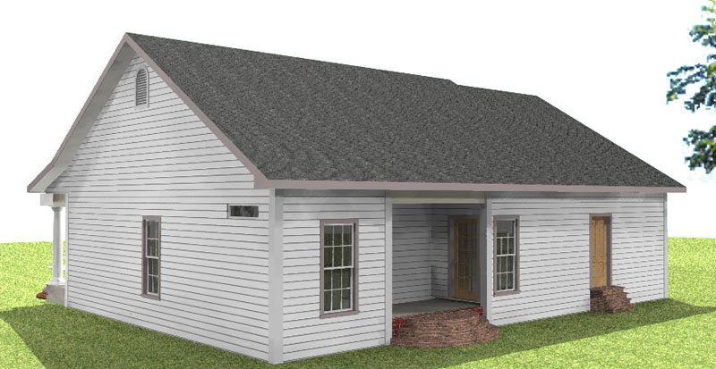 Southern House Plan Side View Photo 01 028D-0059