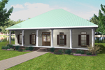 Cabin and Cottage Plan Front Photo 01 - 028D-0060 | House Plans and More