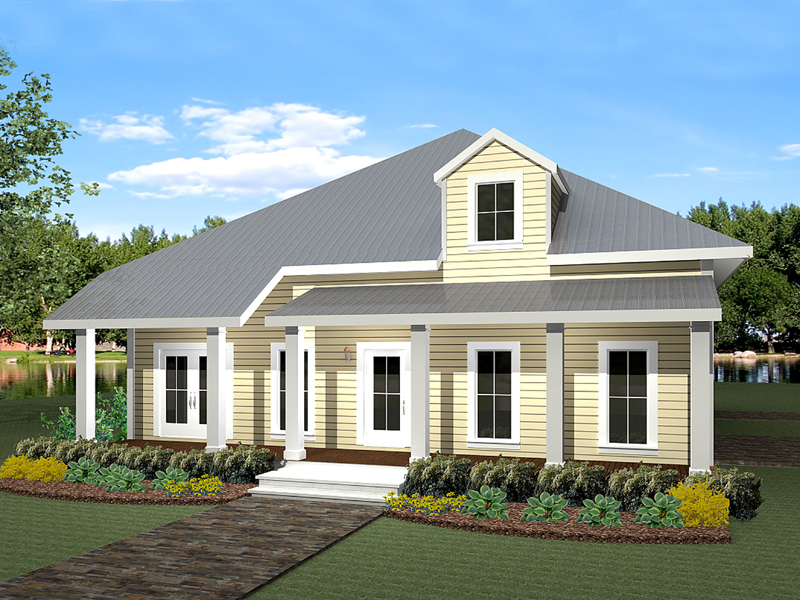 Vacation House Plan Front of Home 028D-0062