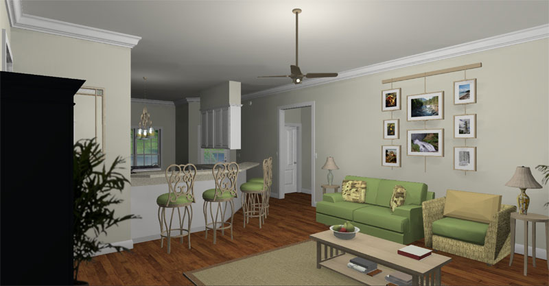 Colonial House Plan Family Room Photo 01 - 028D-0067 | House Plans and More