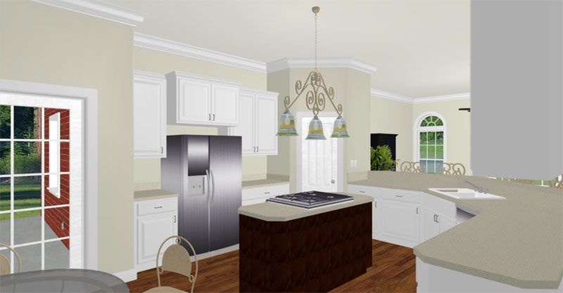 Colonial Floor Plan Kitchen Photo 01 - 028D-0067 | House Plans and More