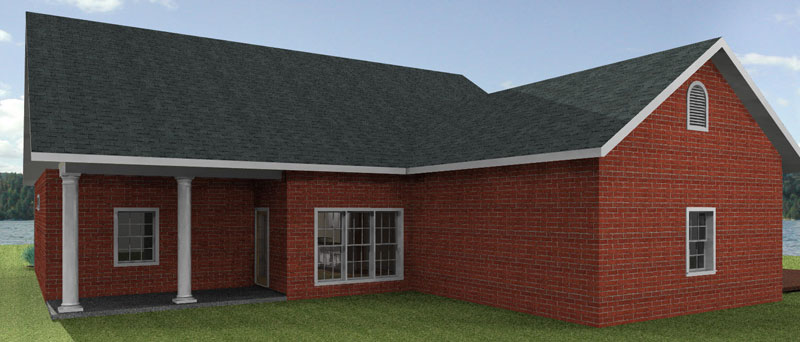 Traditional House Plan Color Image of House - 028D-0069 | House Plans and More