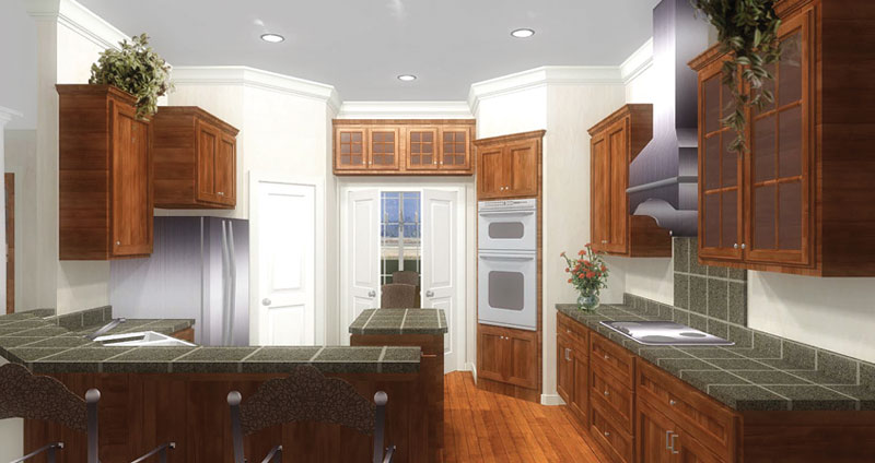 European House Plan Kitchen Photo 02 028D-0070