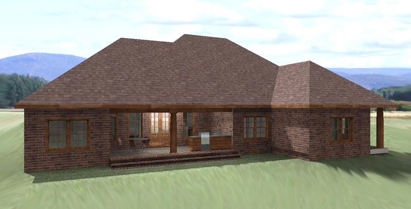 Ranch House Plan Color Image of House 028D-0070