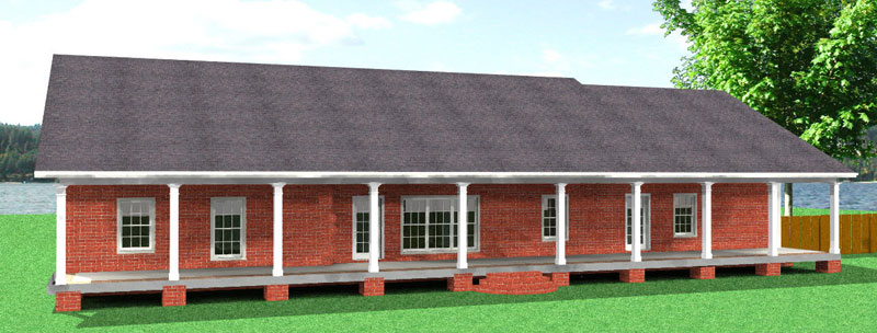 Ranch House Plan Color Image of House - 028D-0071 | House Plans and More