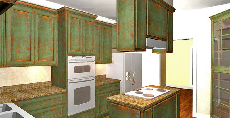 Traditional House Plan Kitchen Photo 01 - 028D-0072 | House Plans and More