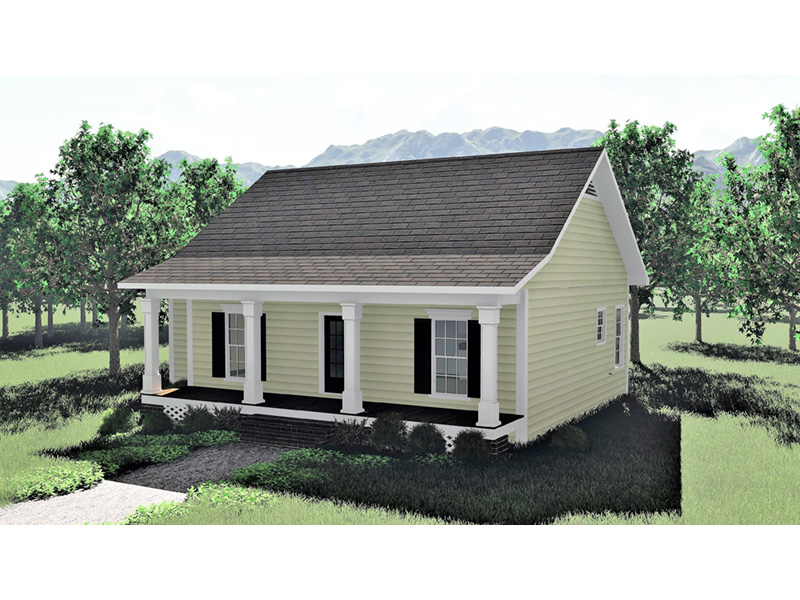 Ranch House Plan Front Photo 02 - 028D-0073 | House Plans and More