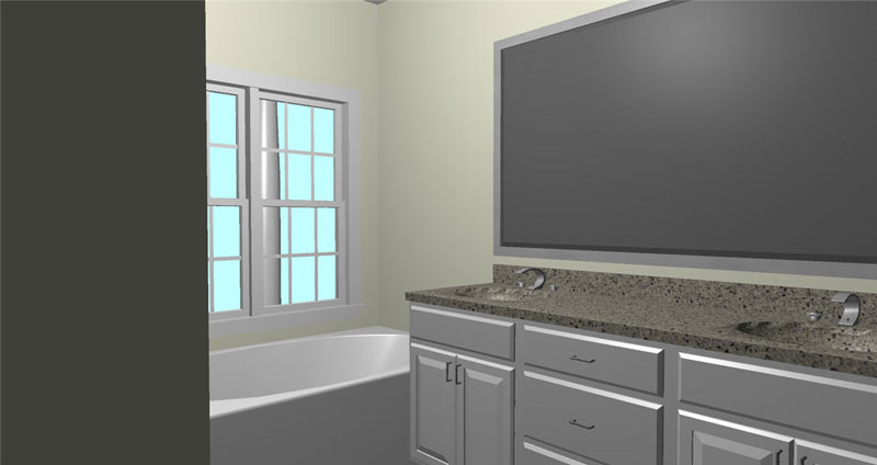 Ranch House Plan Bathroom Photo 01 - 028D-0074 | House Plans and More