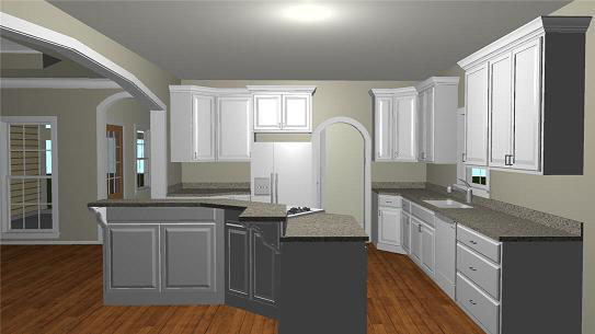 Ranch House Plan Kitchen Photo 01 - 028D-0074 | House Plans and More