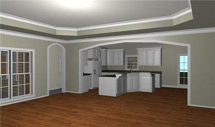 Ranch House Plan Kitchen Photo 02 - 028D-0074 | House Plans and More