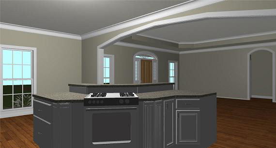 Ranch House Plan Kitchen Photo 03 - 028D-0074 | House Plans and More