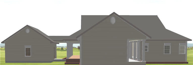 Ranch House Plan Color Image of House - 028D-0074 | House Plans and More