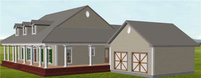 Ranch House Plan Side View Photo 01 - 028D-0074 | House Plans and More