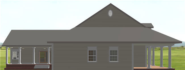 Ranch House Plan Side View Photo 02 - 028D-0074 | House Plans and More