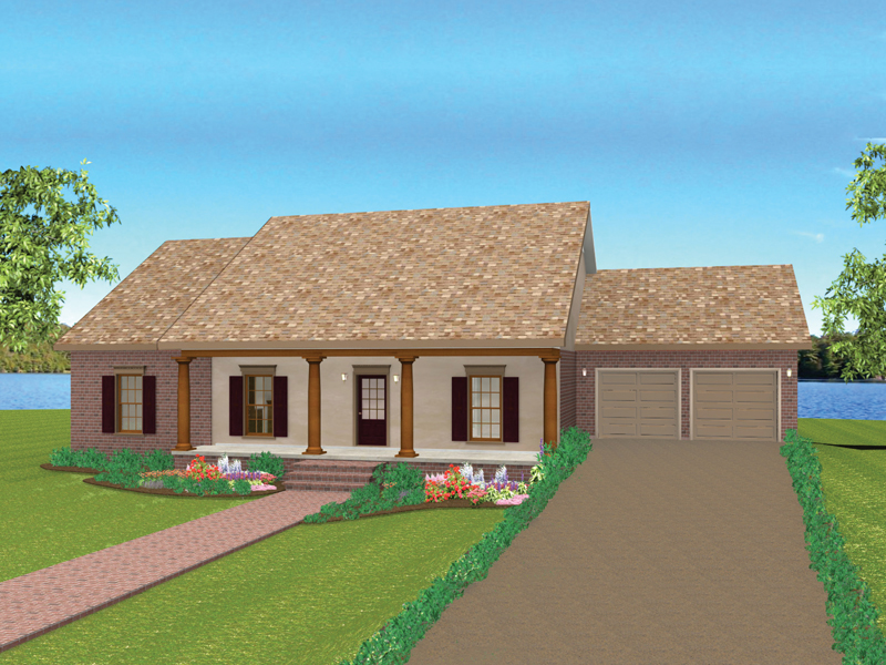 Ranch House Plan Front Photo 01 - 028D-0075 | House Plans and More