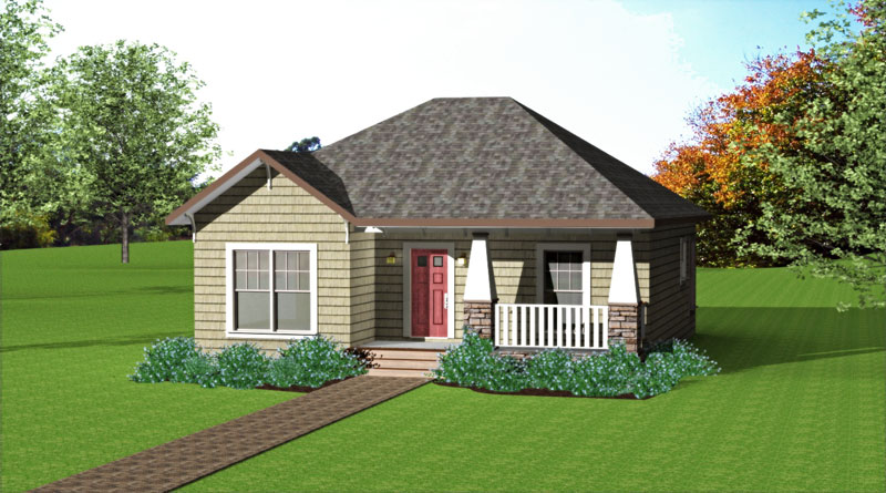 Rustic Home Plan Front Photo 01 - 028D-0076 | House Plans and More