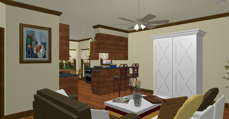 Ranch House Plan Great Room Photo 01 - 028D-0077 | House Plans and More