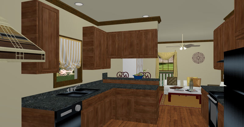 Ranch House Plan Kitchen Photo 01 - 028D-0077 | House Plans and More