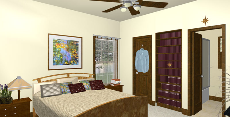 Craftsman House Plan Master Bedroom Photo 01 - 028D-0077 | House Plans and More