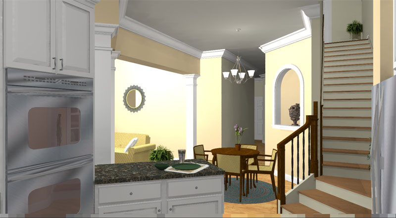 Southern House Plan Dining Room Photo 01 028D-0078