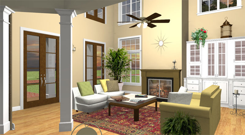 Southern House Plan Great Room Photo 01 028D-0078