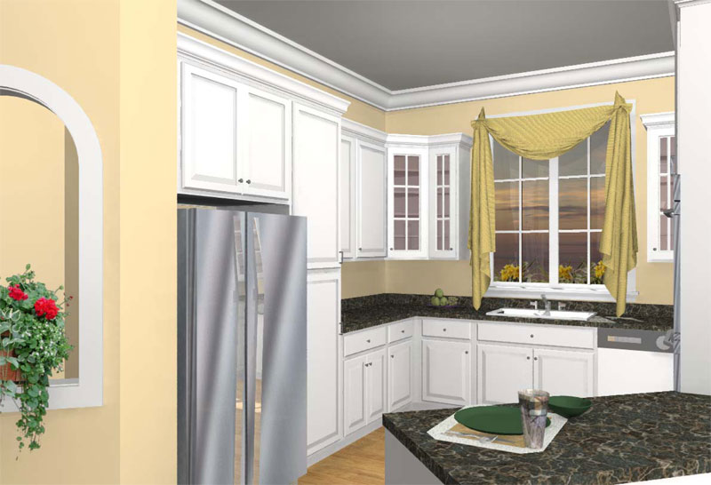 Colonial Floor Plan Kitchen Photo 01 - 028D-0078 | House Plans and More