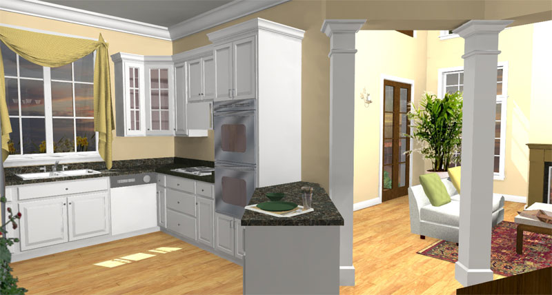 Colonial Floor Plan Kitchen Photo 02 028D-0078