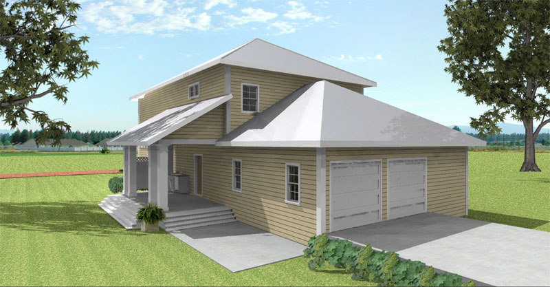 Farmhouse Plan Color Image of House 028D-0078