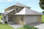 Southern Plantation Plan Rear Photo 01 - 028D-0078 | House Plans and More