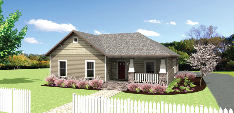Craftsman House Plan Front of Home - 028D-0082 | House Plans and More