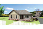 Ranch House Plan Front of Home - 028D-0082 | House Plans and More