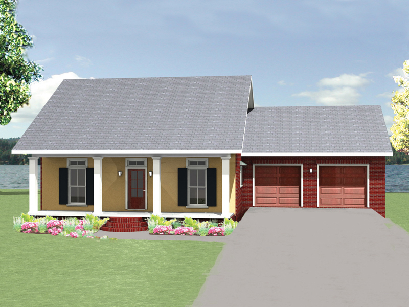 Cabin and Cottage Plan Front Image 028D-0083