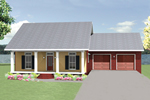 Ranch House Plan Front Image - 028D-0083 | House Plans and More