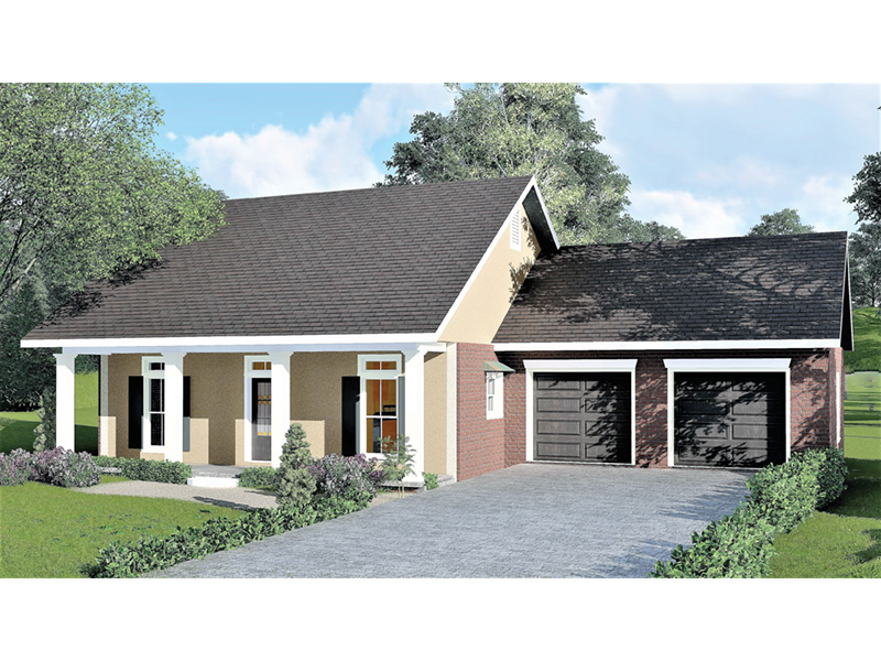 Ranch House Plan Front Photo 02 028D-0083