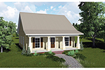 Cabin and Cottage Plan Front of Home - 028D-0084 | House Plans and More