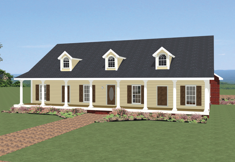 Ranch House Plan Front of Home - 028D-0085 | House Plans and More
