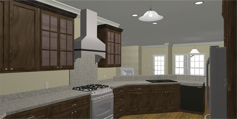 Ranch House Plan Kitchen Photo 01 - 028D-0085 | House Plans and More