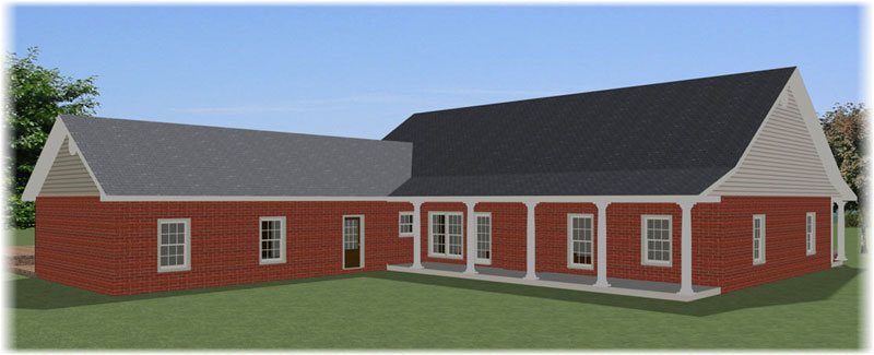 Ranch House Plan Color Image of House - 028D-0085 | House Plans and More